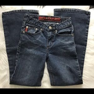 Mudd Girl's, wide leg flare, Blue jeans, Size 8